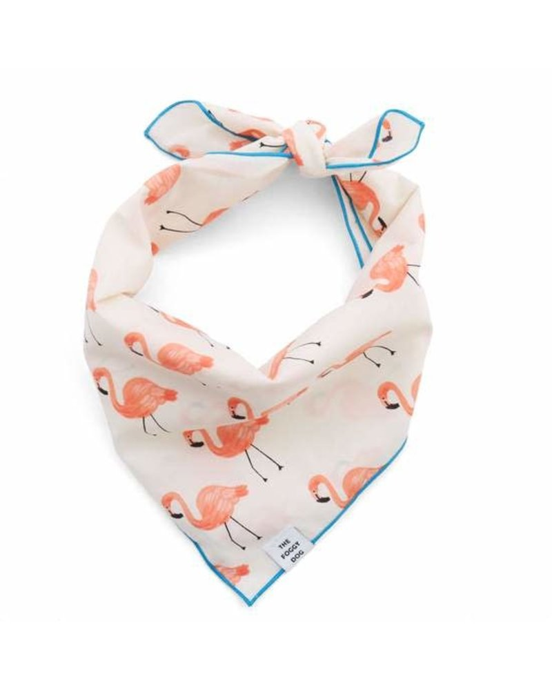 The Foggy Dog Flamingo Party Bandana