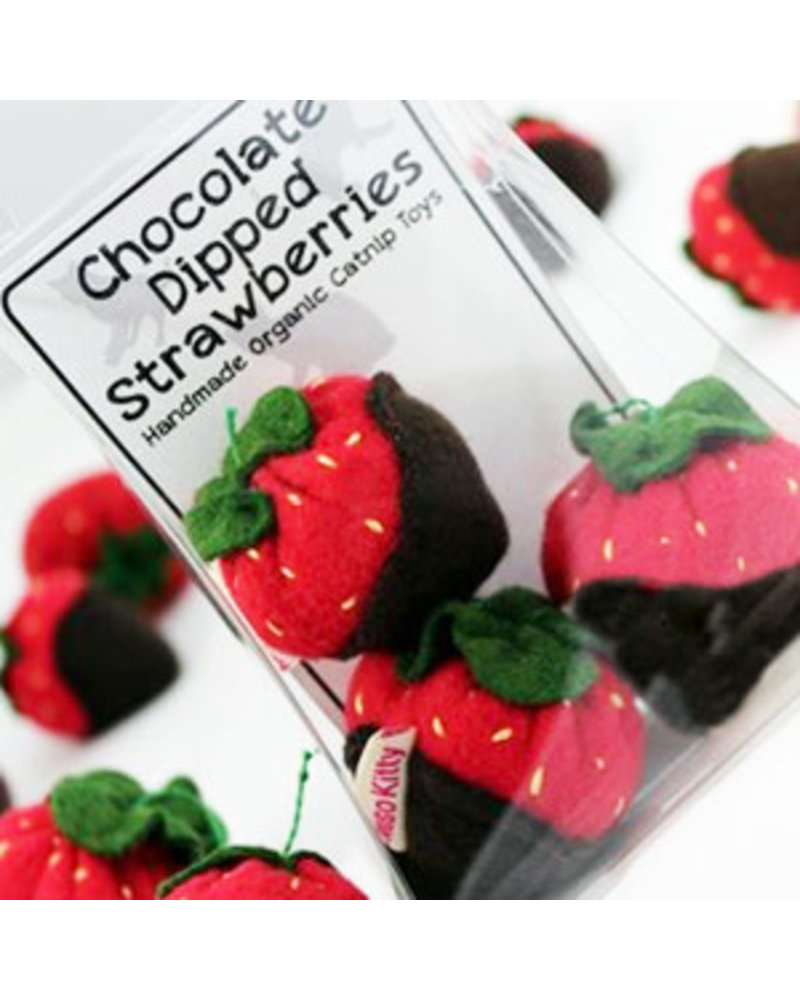 Miso Handmade Chocolate Dipped Strawberries Catnip Toy