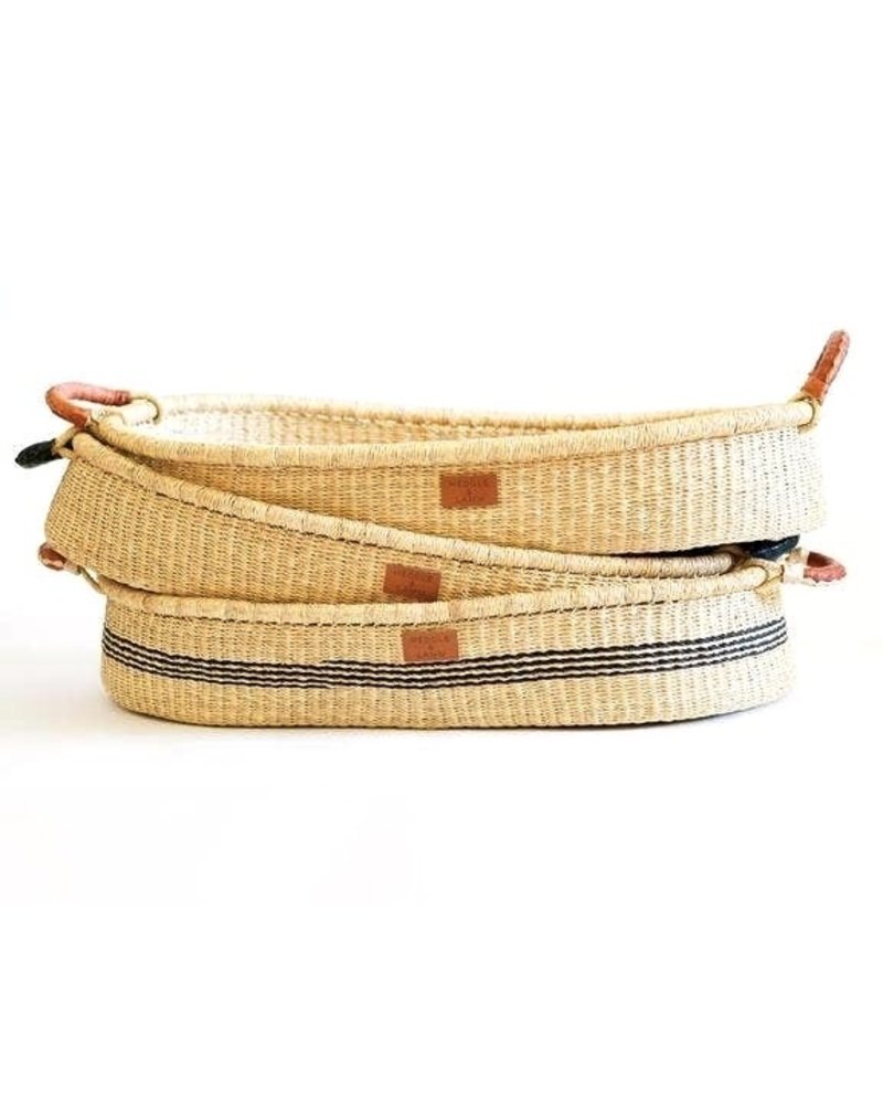 Heddle & Lamb Basket Bed with Leather Handles