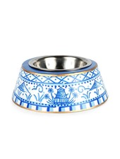 Jaye's Studio Pagoda Pet Bowl, Blue