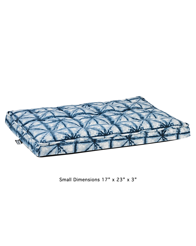 Bowsers Luxury Crate Mattress, Shibori Blue