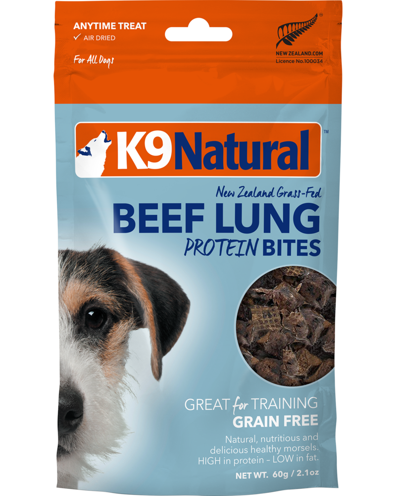 K9 Natural Beef Lung Protein Bites