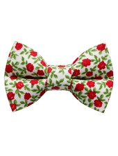 Sweet Pickles Designs Bow-Tie, Big Night (Red Flowers)