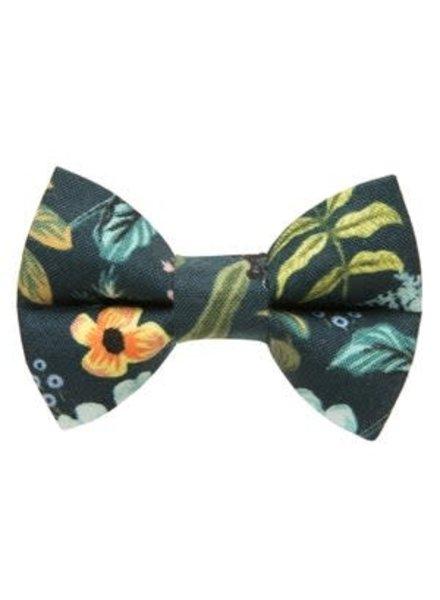 "Sweet Pickles Designs Bow-Tie, ""The Hidden Gem"" Navy Floral"