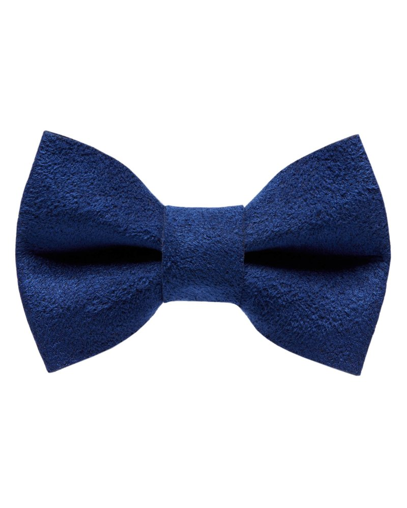 Sweet Pickles Designs Bow-Tie, Navy Ultrasuede