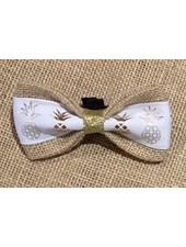 FEED Burlap Bow Tie, Pineapple