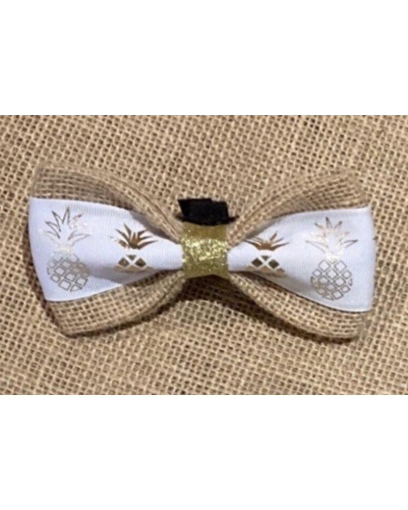 Burlap Bow Tie, Pineapple