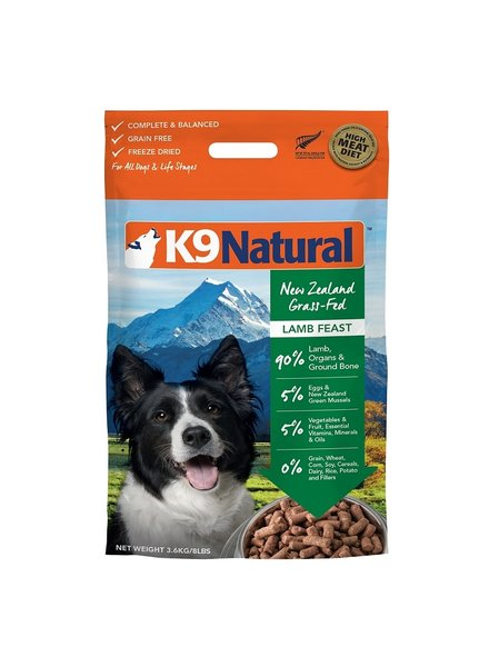 K9 Natural SALE Lamb Feast 8lb