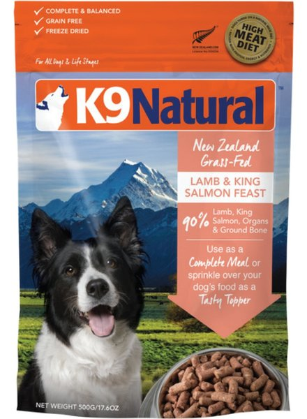 K9 Natural SALE Raw Lamb Salmon Feast 1.1 lb