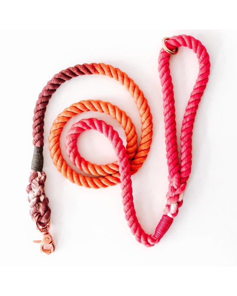 Woof + Wonder Co. Orange Ombre Rope Leash