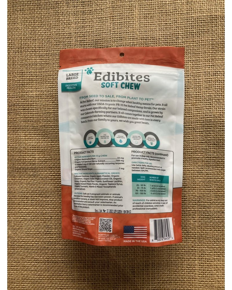 Pet Releaf Edibites Digestive Health Sweet Potato Pie