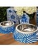 Palm Leaf Pet Bowl, Blue