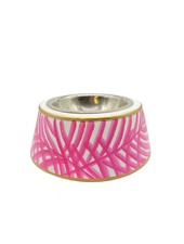 Jaye's Studio Palm Pet Bowl, Pink