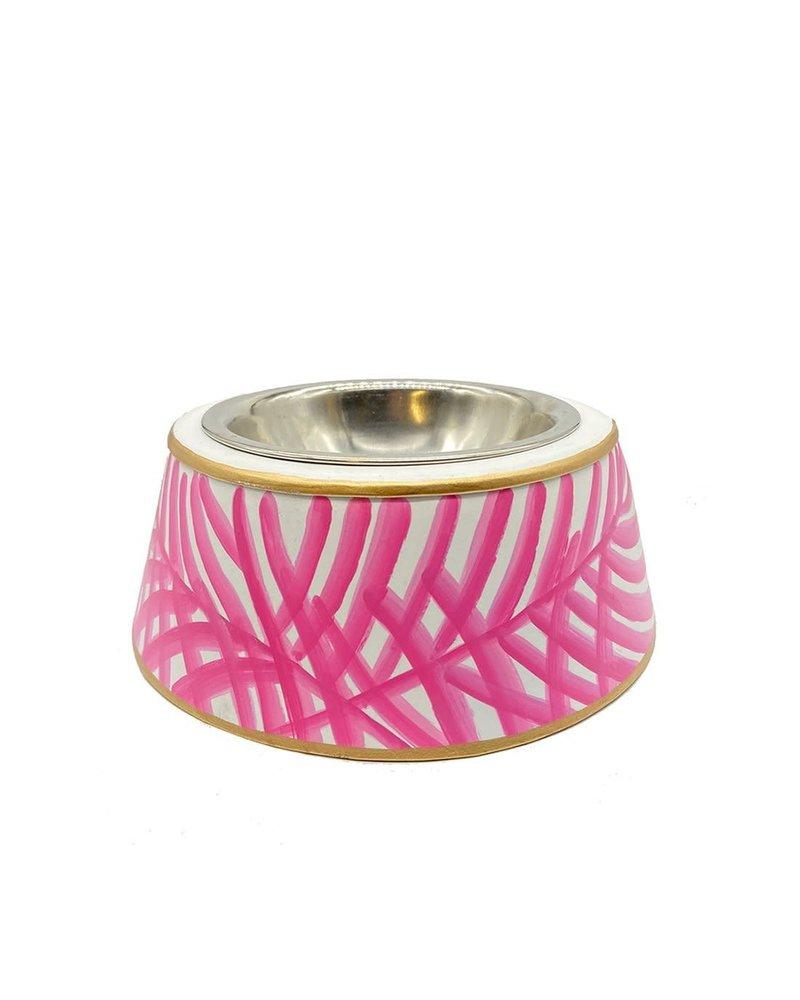 Palm Pet Bowl, Pink