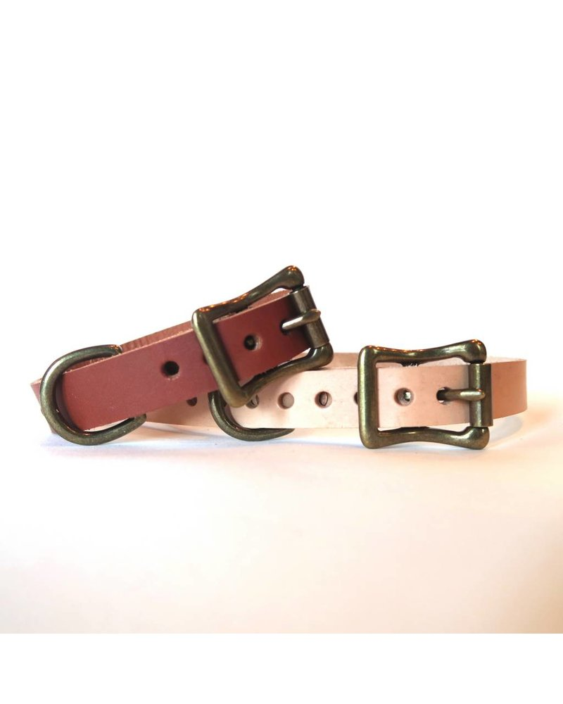 Choice Cuts Leather Collar, Chestnut