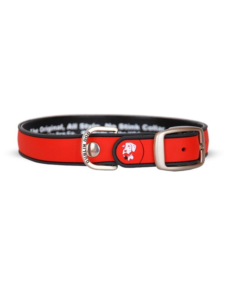 Dublin Dog Waterproof Collar, Red
