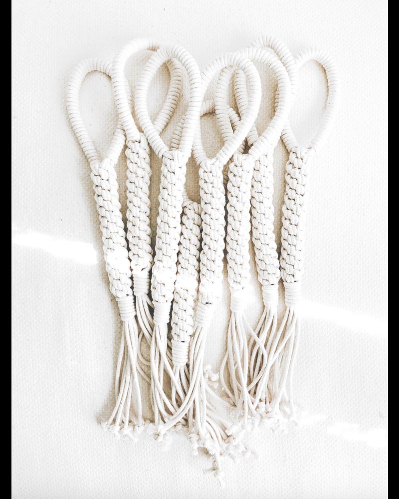 Ember & Ivory Macrame Rope Dog Tug Toy