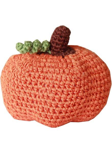 Pet Flys Crochet Pumpkin Toy