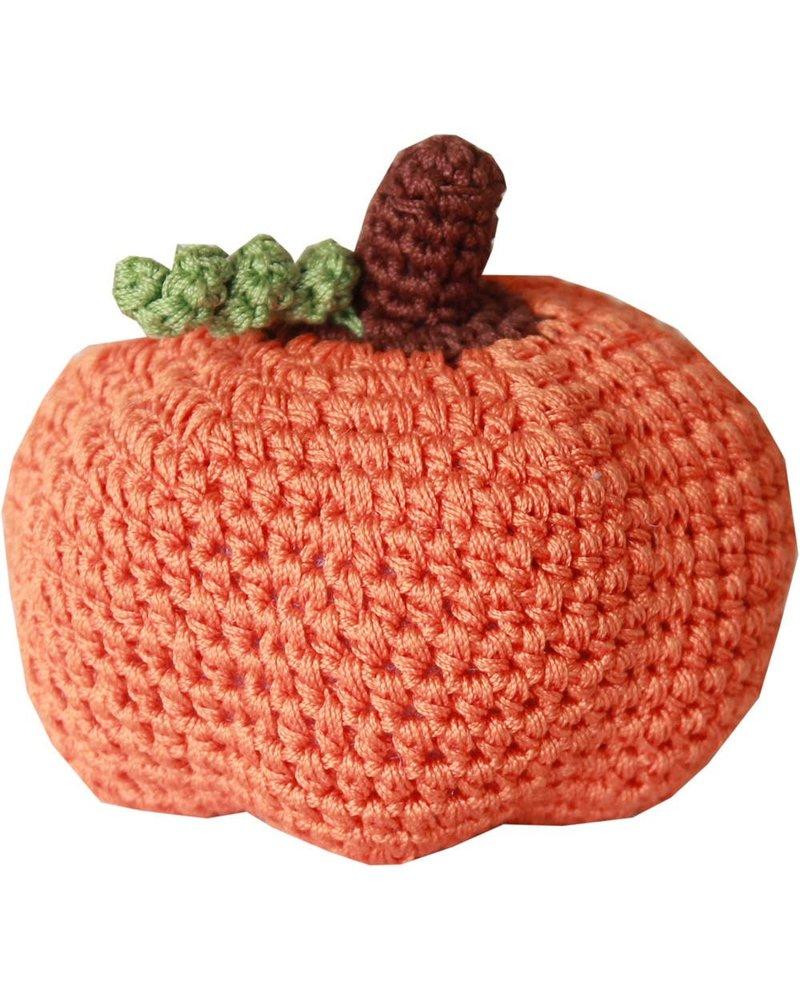 Pet Flys Crochet Knit Knack Pumpkin Toy