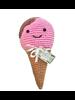 Pet Flys Crochet Knit Knack Ice Cream Toy