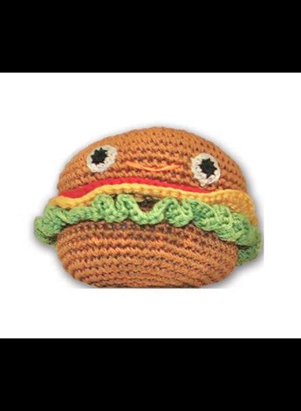 Pet Flys Crochet Burger Toy