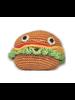 Pet Flys Crochet Knit Knack Burger Toy