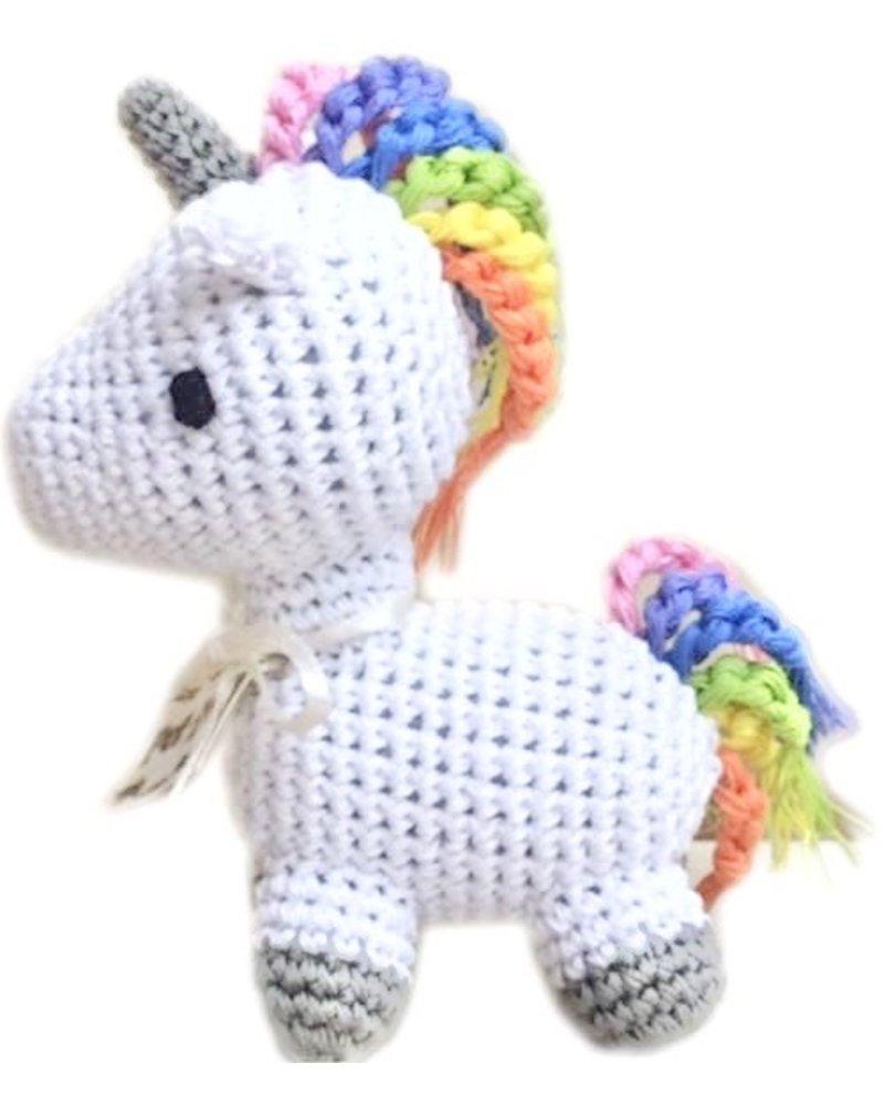 Pet Flys Crochet Knit Knack Unicorn Toy