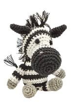 Pet Flys Crochet Zebra Toy
