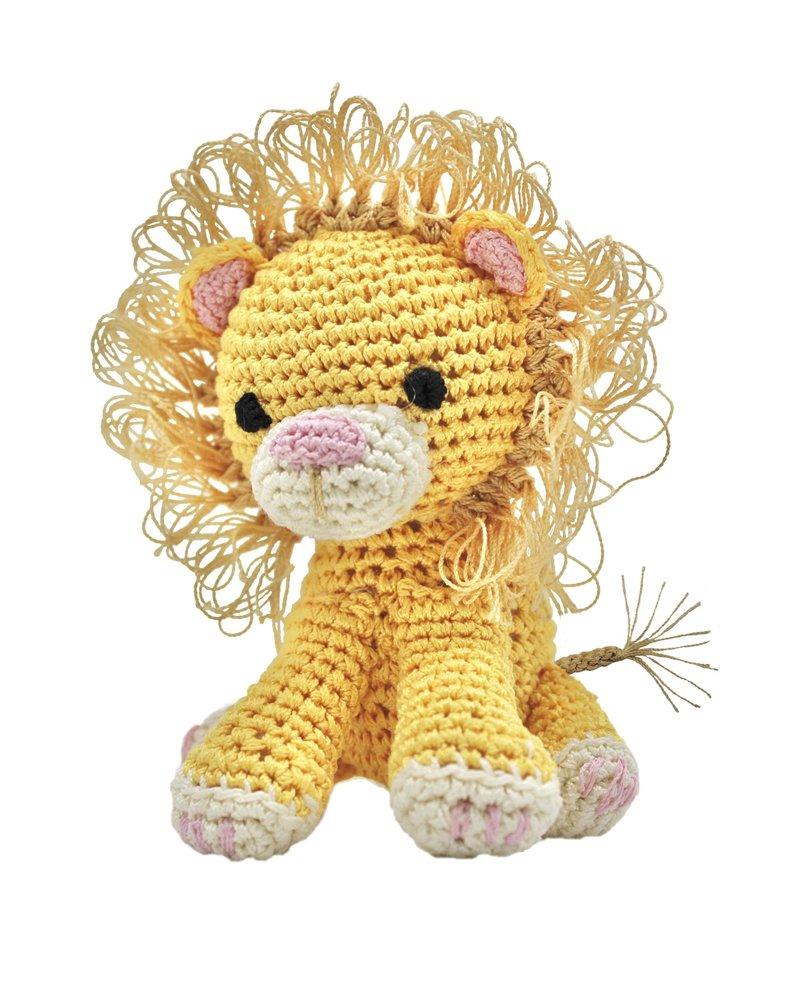 Pet Flys Crochet Knit Knack Lion Toy