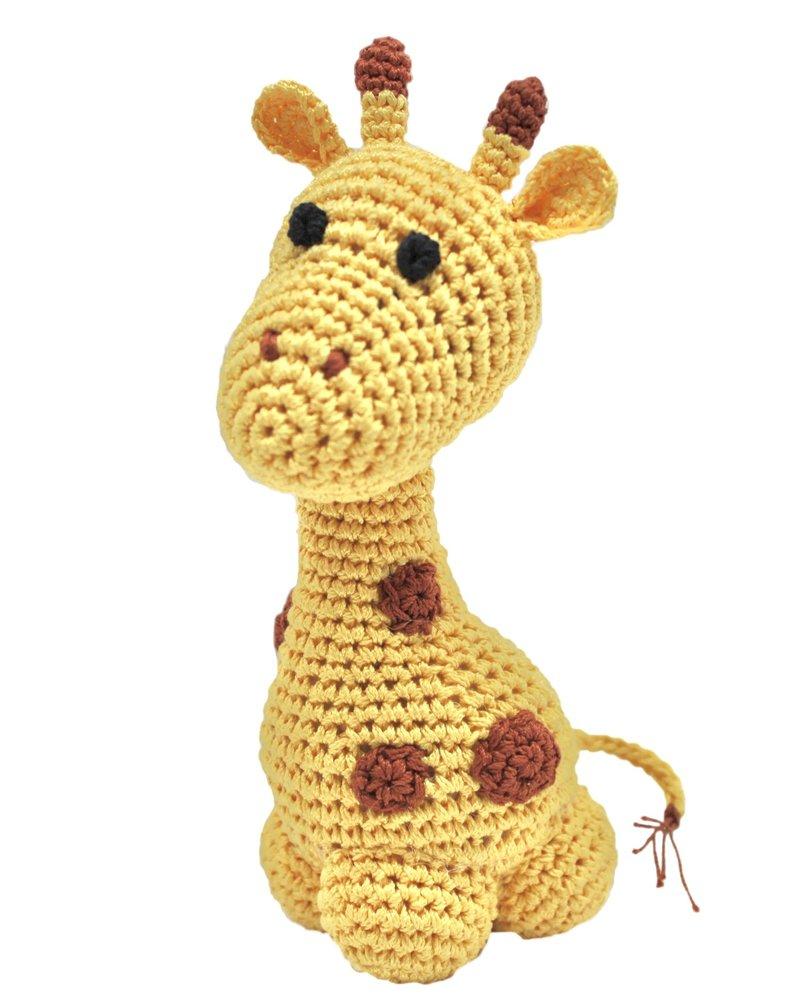 Pet Flys Crochet Knit Knack Giraffe Toy