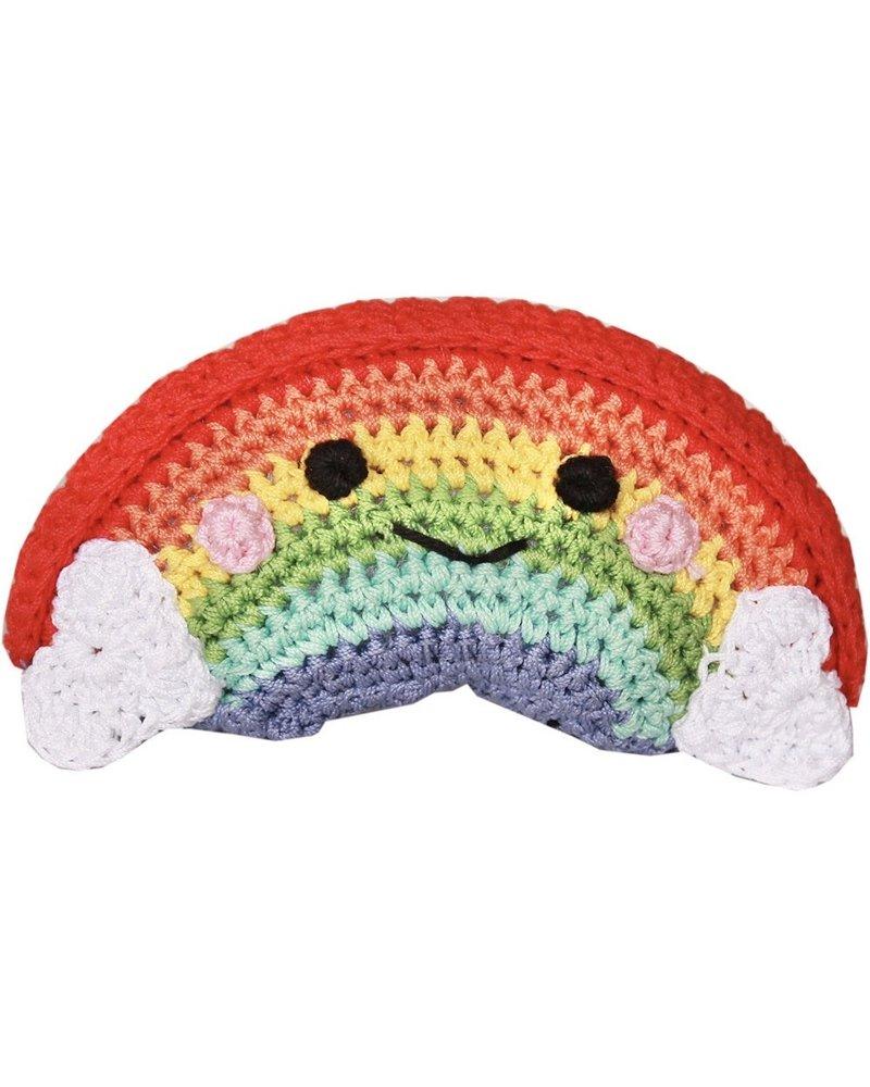Pet Flys Crochet Knit Knack Rainbow Toy
