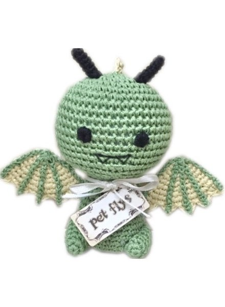 Pet Flys Crochet Dragon Toy