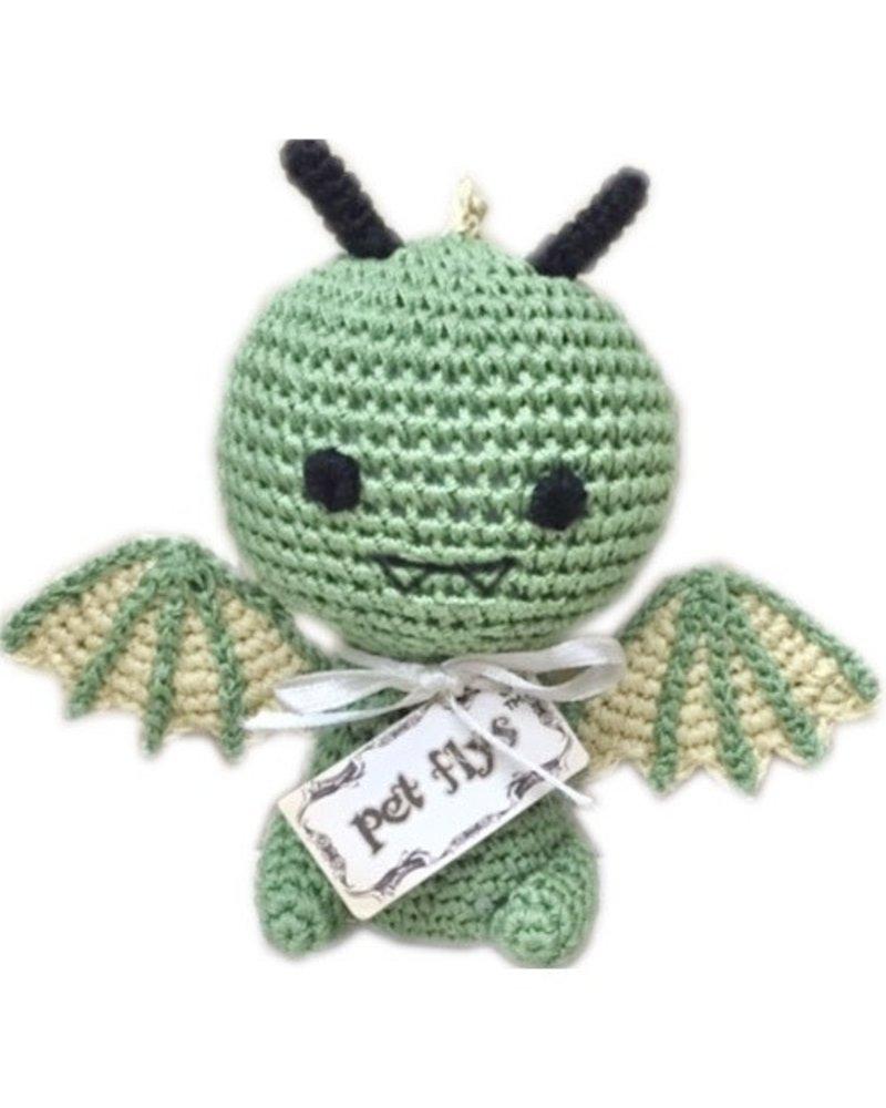 Pet Flys Crochet Knit Knack Dragon Toy