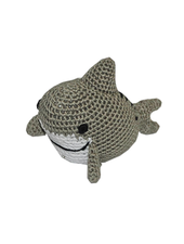 Pet Flys Crochet Knit Shark Toy