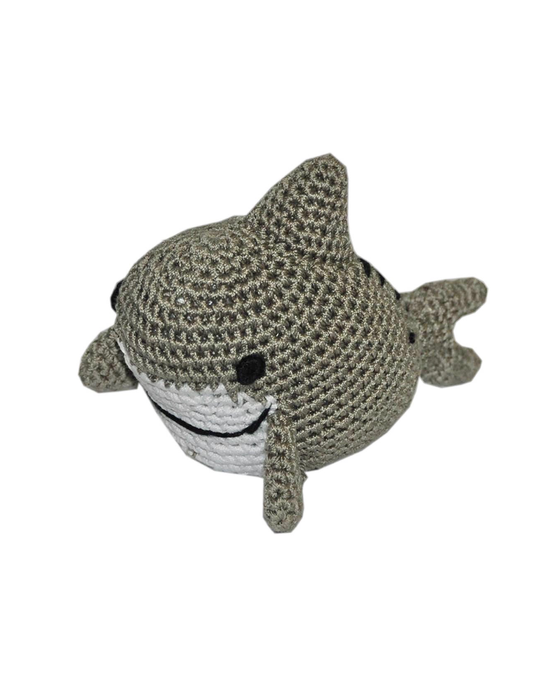 Pet Flys Crochet Knit Shark Toy