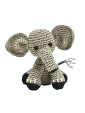 Pet Flys Crochet Knit Elephant Toy