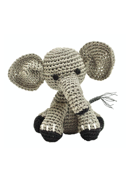 Pet Flys Crochet Knit Elephant Toy