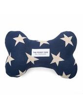 The Foggy Dog Navy Stars Bone Toy