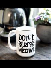 The Dapper Paw Don't Stress Meowt Mug