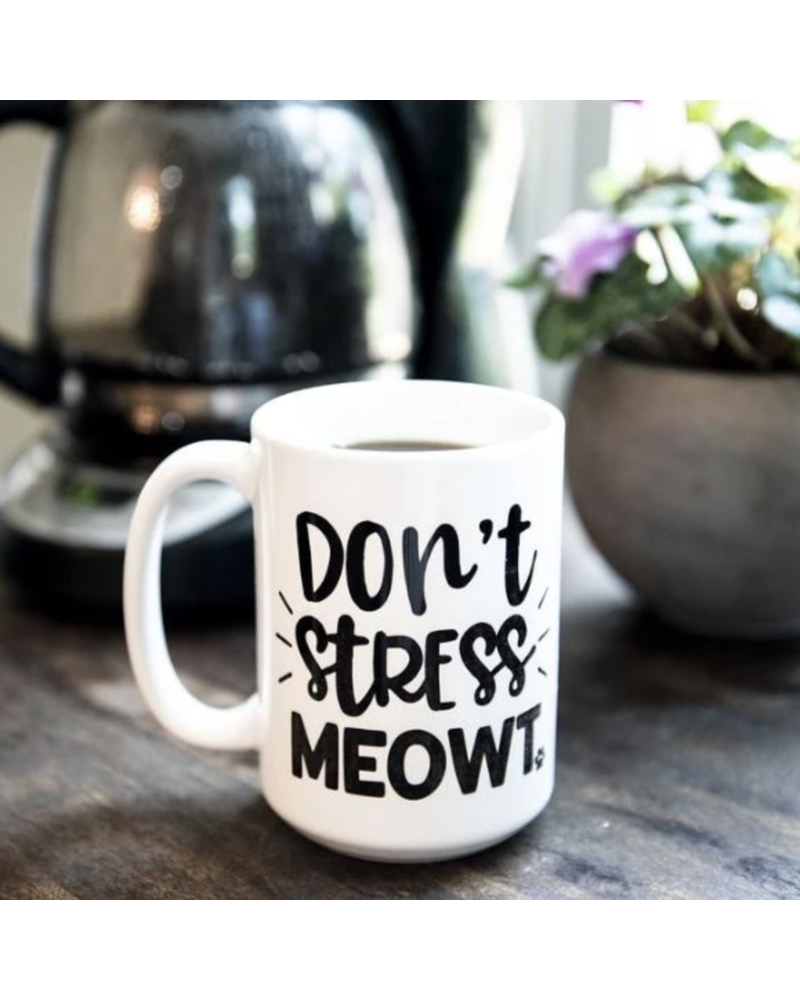 The Dapper Paw Don't Stress Meowt Mug