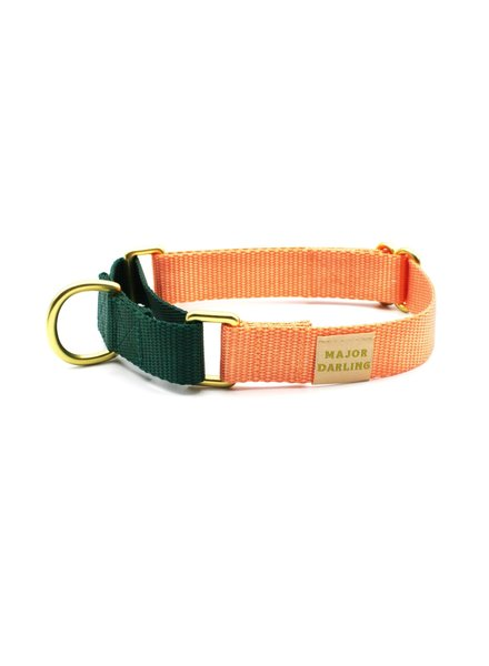 Major Darling Peach & Evergreen Martingale Collar