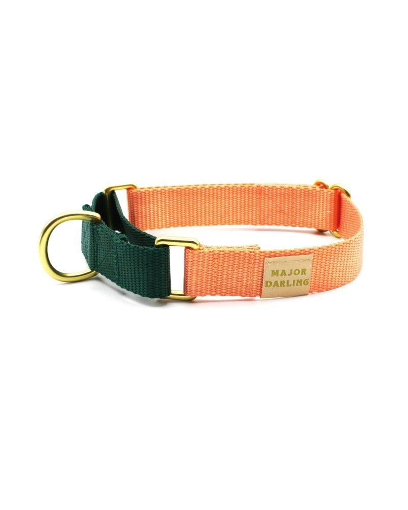 Major Darling Peach & Evergreen Martingale Collar