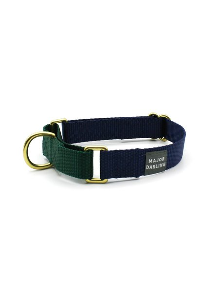 Major Darling Navy & Evergreen Martingale Collar