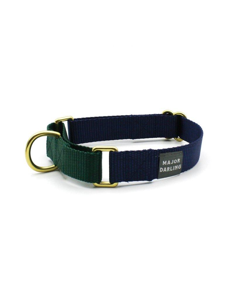 Major Darling Navy & Evergreen Martingale Collar