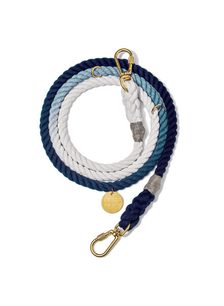 Found My Animal Adjustable Rope Leash Indigo Ombre