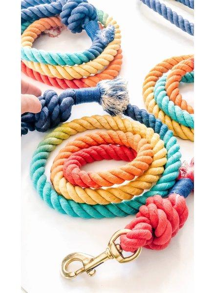 Woof + Wonder Co. Color Me Happy Rope Leash