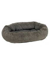 Bowsers Donut Bed, Pewter Bones