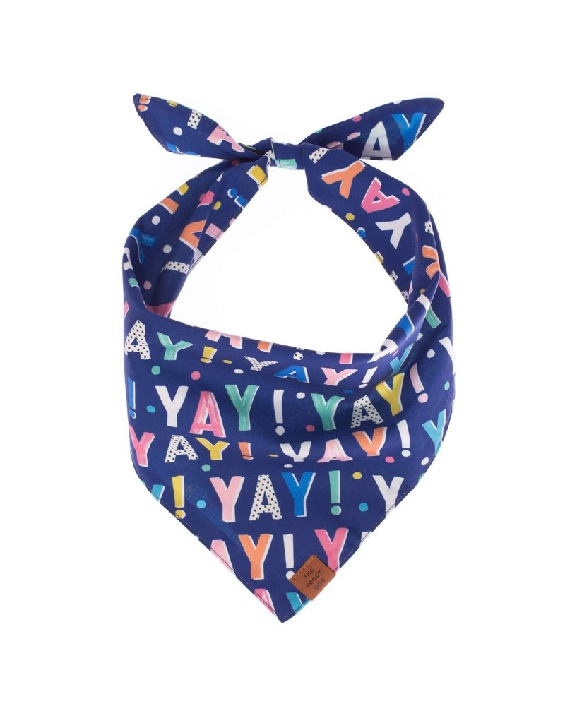 The Foggy Dog Yay! Bandana Navy M