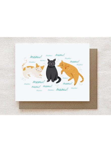 Quirky Paper Co. Meow! Greeting Card