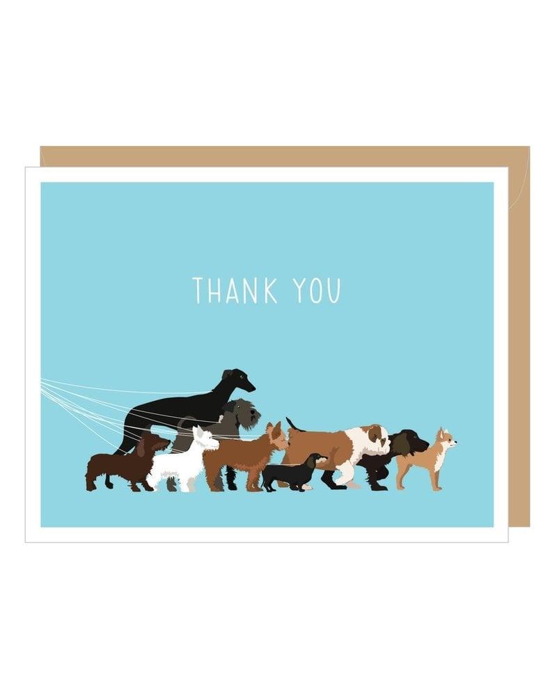 Apartment 2 Cards Thank You Dog Walk Greeting Card